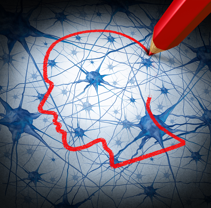 Neurology research concept graphic