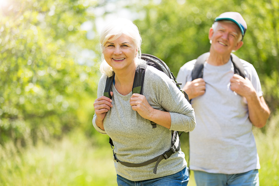 CCRC misconceptions older couple hiking
