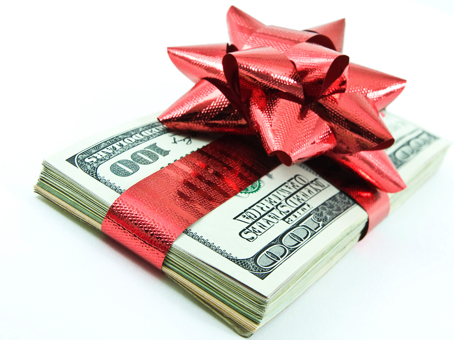 money for christmas and decorations
