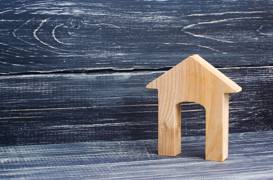 Figurine Of A Wooden House