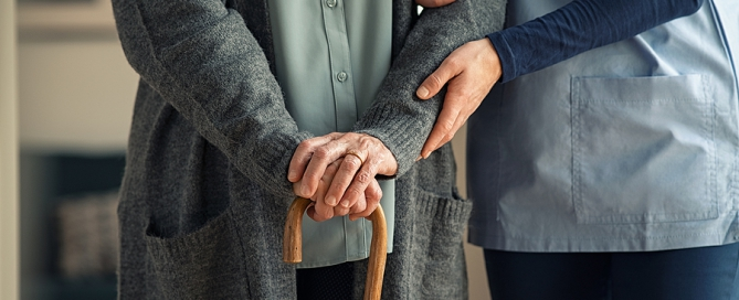 nurse and resident of assisted living and skilled nursing care