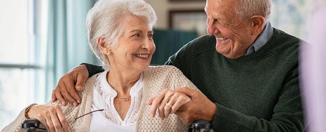 loving elderly couple, monthly fee adjustments